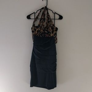 Cheetah print cocktail dress